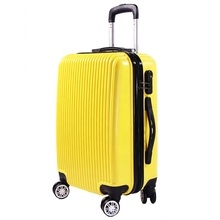 Abs 360 degree trolley travel suitcase 3 pcs sets hard shell luggage bag