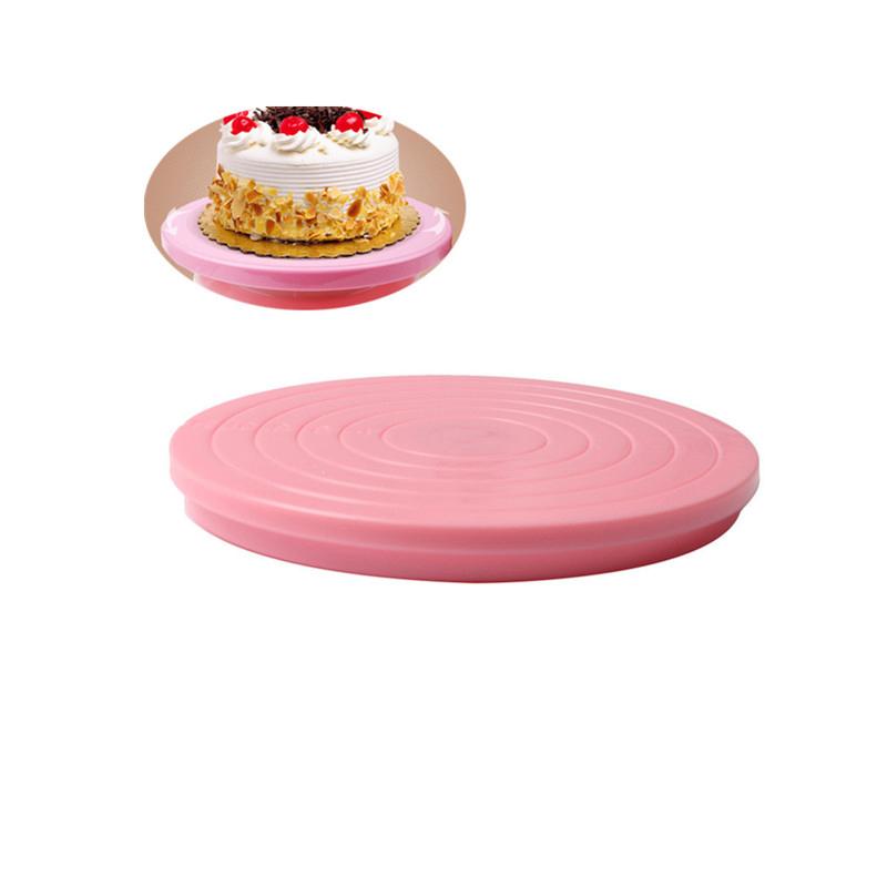 400 plástico pastel Placa de mesa rotativa pasteles decoración plataforma Anti-skid ronda DIY cocina postre hornear herramienta