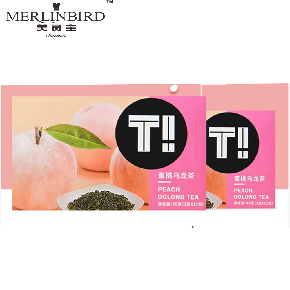 European Standard Peach Oolong Tea Beautiful Box Packaging in Teabags - 4uTea | 4uTea.com