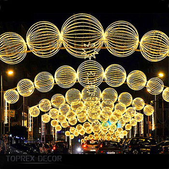 Outdoor used commercial large collapsible lights christmas street decorations