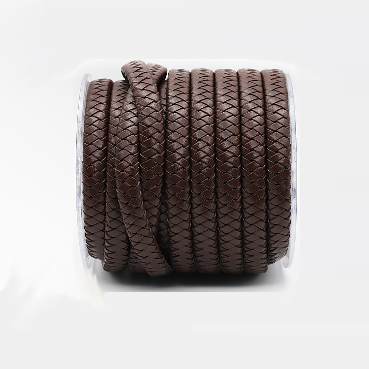 Factory Outlets Braided Flat Leather Cord For Custom Jewelry Making