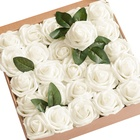 8cm Bulk Giant Foam Rose Artificial Flowers Head for Wedding Decoration Bouquet Packing Box