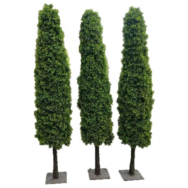 Outdoor gefälschte topiary künstliche pflanzen künstliche buchsbaum grün cypress baum für garten