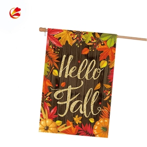 personalized sublimation hot transfar banner thanksgiving garden flags