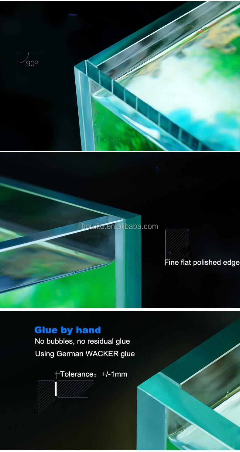Ultra clear glass bottom filter fish tank
