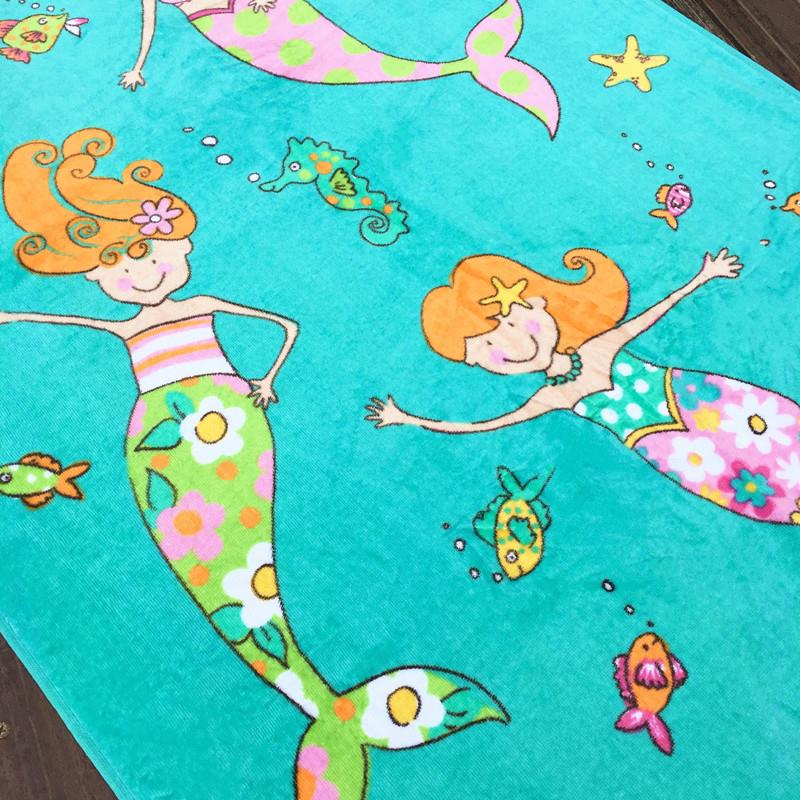 Free Shipping New Carton Microfiber Children Baby Bath Towel Quick Dry Highly Absorbent Kids Beach Towel