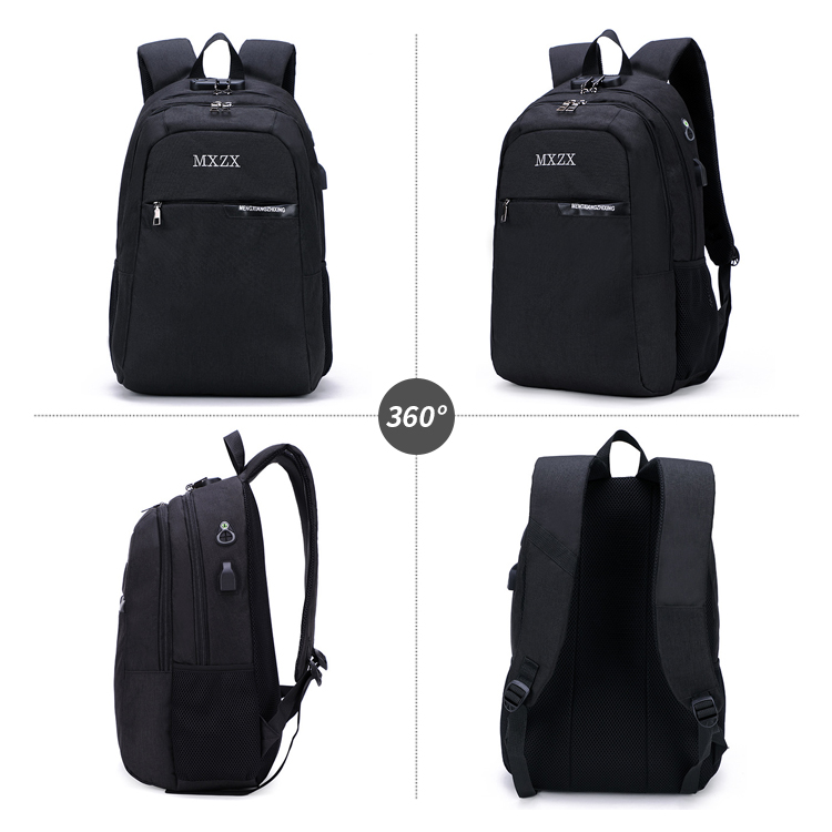 Wholesale travelling USB laptop backpack custom logo anti-theft backpack with USB charger