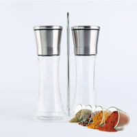 Amazon hot selling mechanism mini salt and pepper grinder set & mills
