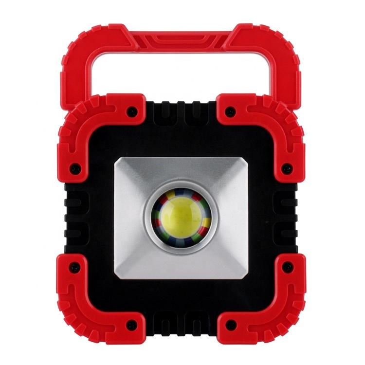 Đèn Làm Việc COB Di Động 10W Có Thể Sạc Lại, Đèn LED Chiếu Sáng 180 Độ Với Bảng Điều Khiển Năng Lượng Mặt Trời