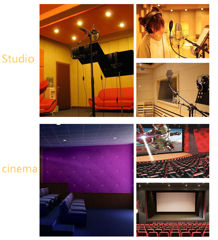 Sound Absorption Panel Polyester Fiber Acoustic Panel