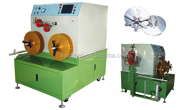 Hot sale 400 500 630  shaft type double-spool coiling machine with vertical or horizontal accumulator for cable or tube