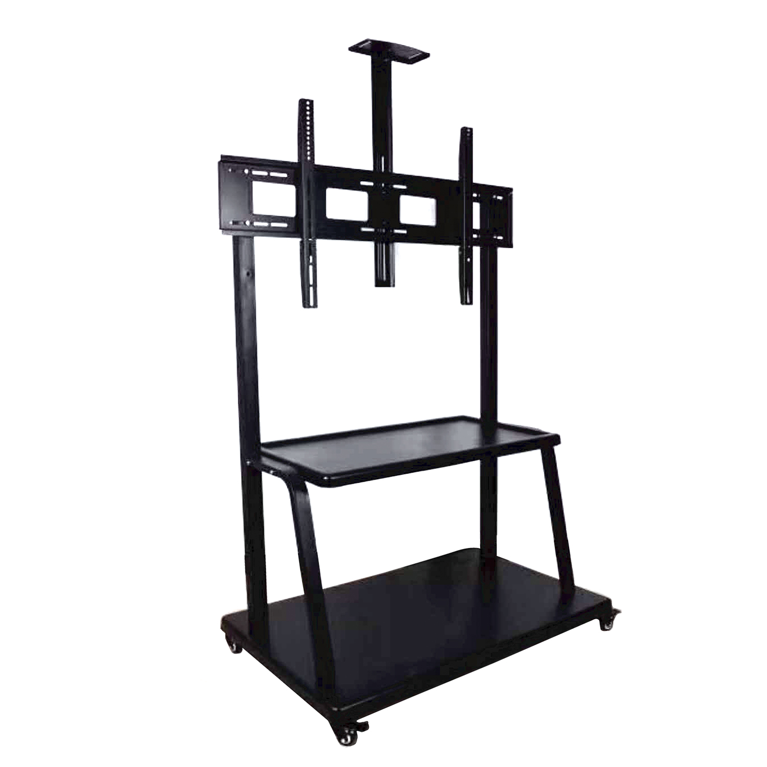 "80""""-110"" Floor Modern Living Room Smart Mobile TV Wall Mount TV Stand With Heavy Dual 150KG Loading Capacity"