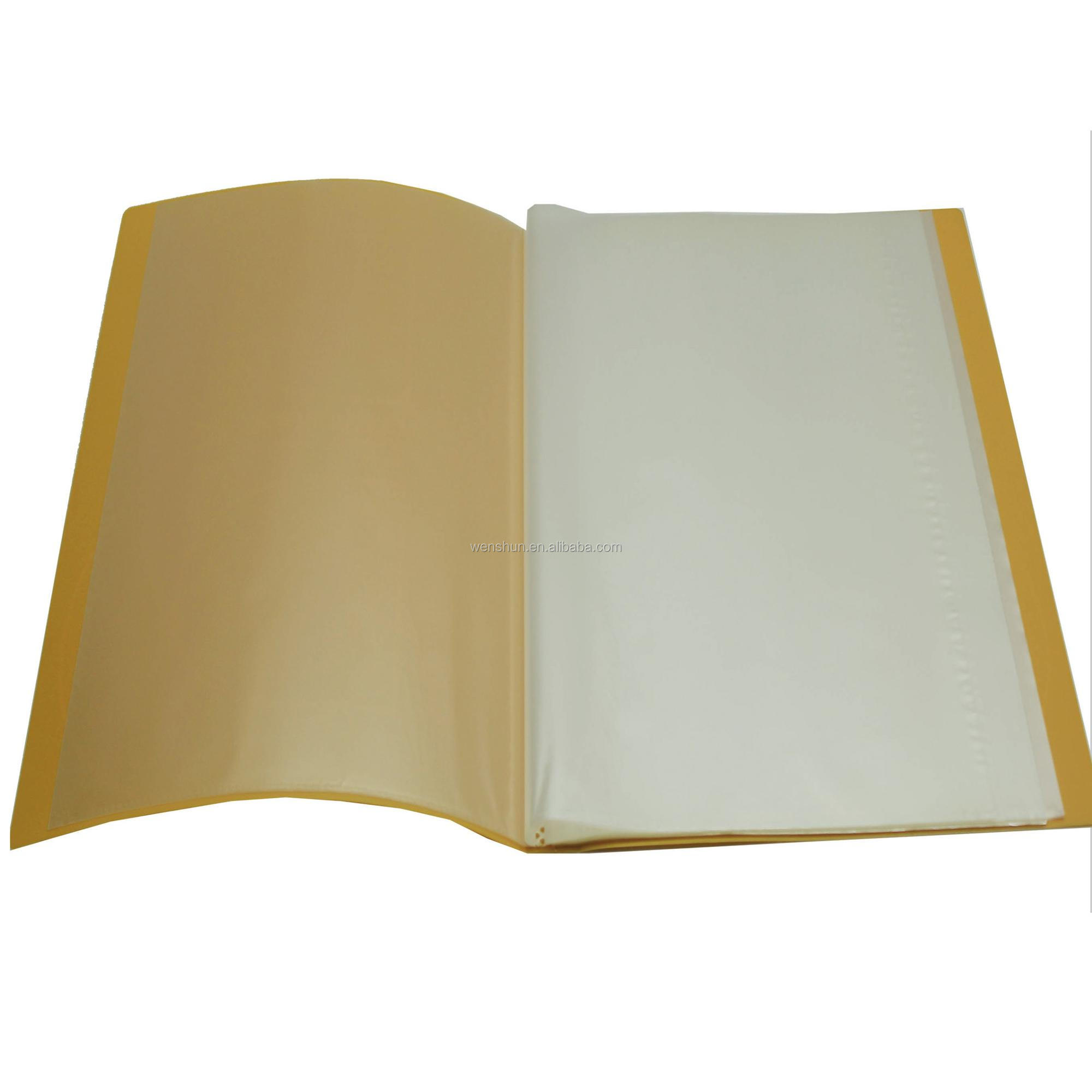 10/20/30/40/60/80 Page Clear Pocket Display Book Conference File Folder For Report
