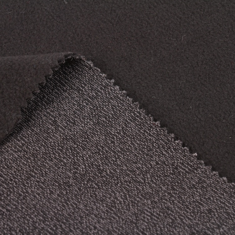 Authentic manufacturer sweater fabric bonded micro fleece polyester fabric