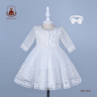 Baby Summer Clothes Newborn Baby Girl Fancy Frocks Middle Sleeves Spanish Little Girls Party Bridesmaid Dresses