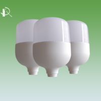 Rongxingda LED light Bulb Parts white cylindrical R07 36w PBT/PP full plastic cover for home LED Bulb factory direct