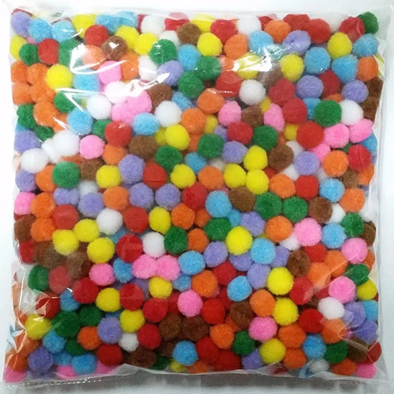 Custom Size Assorted Colorful soft Pom Poms birthday party decorations for Hobby Supplies Craft