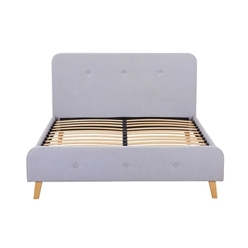 Home furniture fabric simple designs full size wooden bed frame upholstered queen double size platform bed