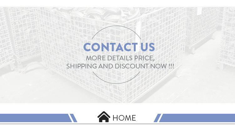 PP Hollow Sheet Steel Metal Warehouse Wire Storage Cage Mesh Container