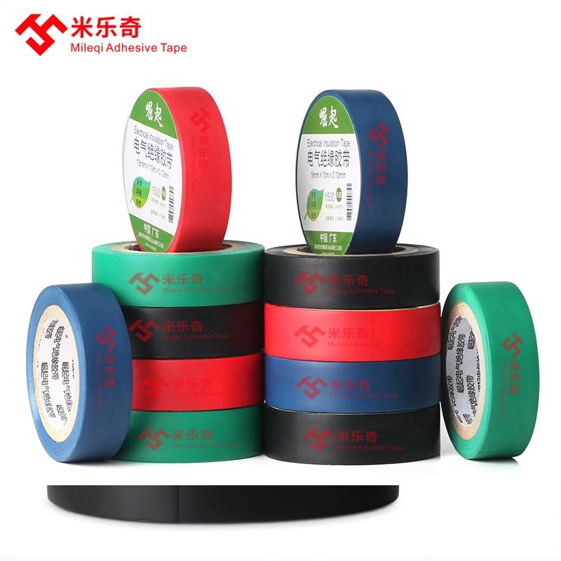 Black blue green red white yellow moisture resisture fire retardant wonder pvc electrical insulating electric insulation tape