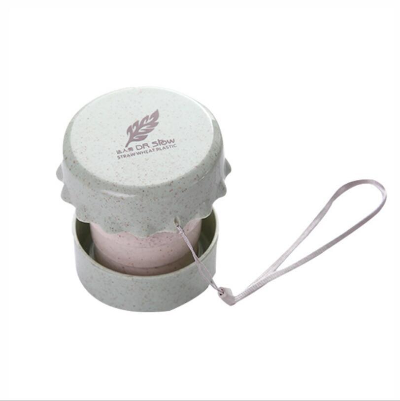 BPA 무료 생분해 성 재료 밀짚 접이식 컵