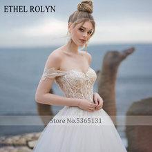 Свадебное платье ETHEL ROLYN A Line, кружевное пляжное платье невесты с кристаллами, с рукавами, на шнуровке, элегантные свадебные платья, Vestido De Noiva, ...(China)