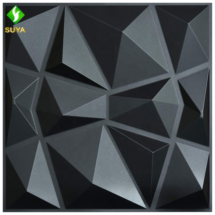 Hot selling Modern art 3D wall panels decorative thermoforming plastic 3d pvc tile wallpaper for home decoration