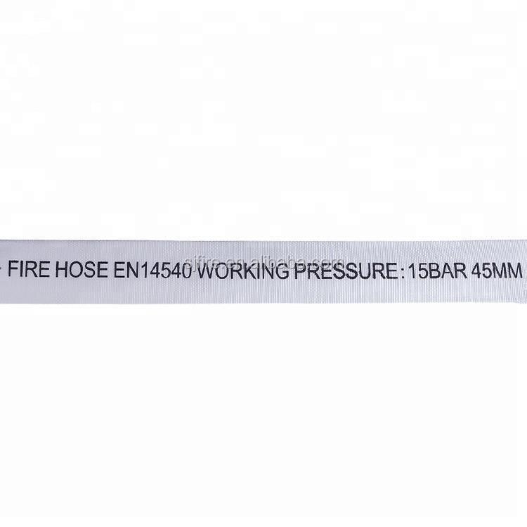 50mm 65mm 75mm fire fighting lay flat pvc lining fire hose