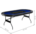 84-inch 10 person Texas Poker Table Foldable