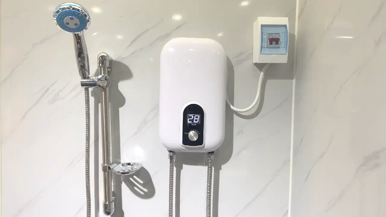 AshiBetter Pemanas Air Panas Elektrik Instan, Pemanas Air Panas Tanpa Tangki Elektrik Instan untuk Dapur Rumah Kecil/Kamar Mandi dengan Harga Pabrikan