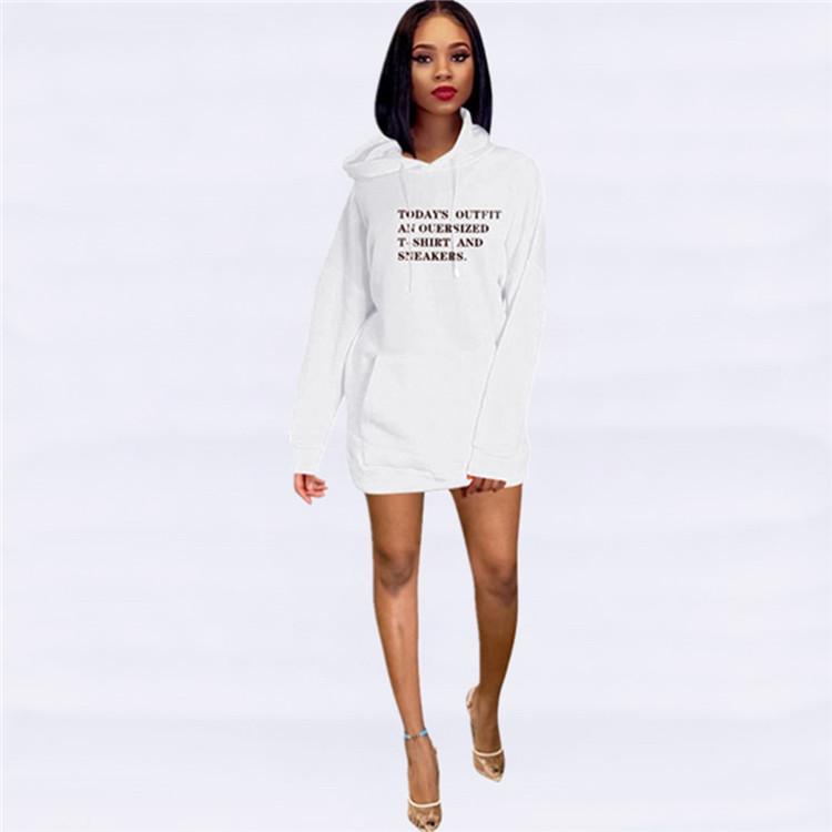 S1826 크리스마스 양털 후드 여성 긴 소매 캐주얼 드레스 레이디 hotsales 옷 가을 새로운 도착 2020