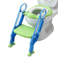 Plastic Baby Potty Training Toilet Seat With Ladder Potty Ladder Baby Toilet for kids and child