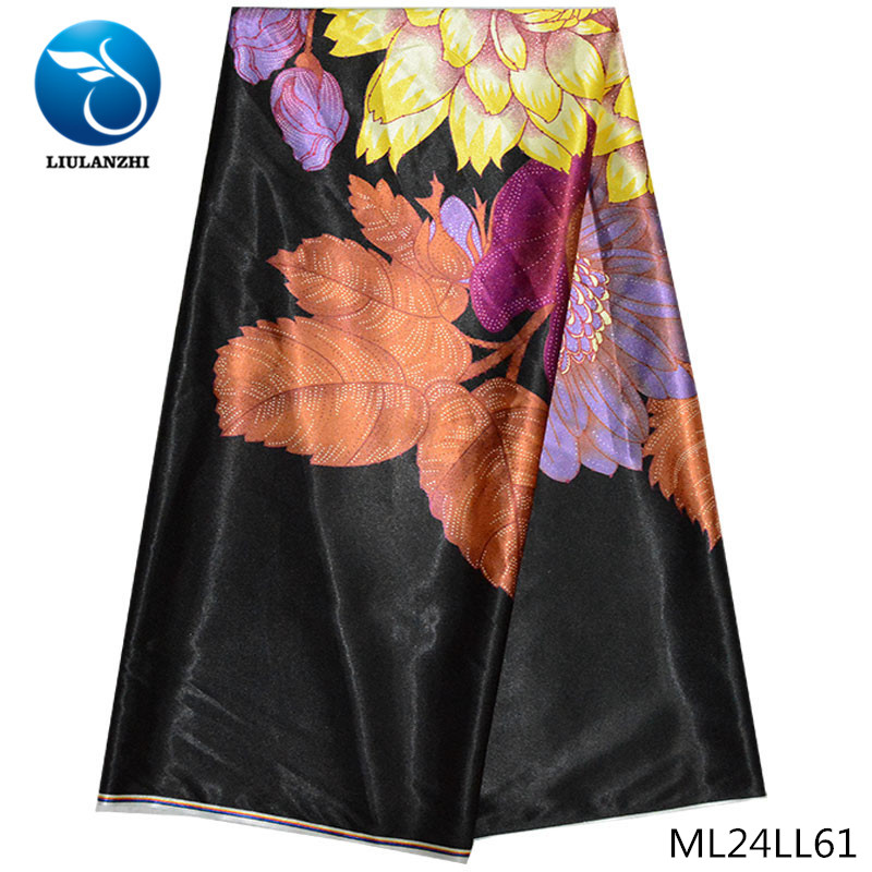 LIULANZHI ankara prints fabrics bridal mom dress satin kids fabric print satin ML24LL51-ML24LL72