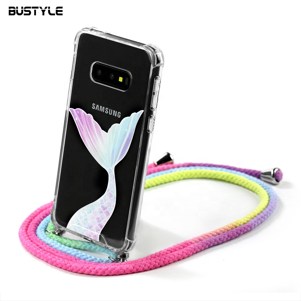 Necklace Strap Shockproof Transparent Phone Case For Iphone 7 8 plus Shoulder Belt Case <strong>Cover</strong> for iPhone X case