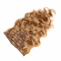 Wholesale cheap hair extensions clip in full head clip-in hair extension raw body wavy clip in hair extensions for black women