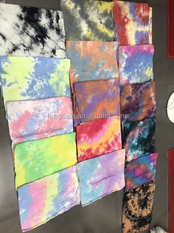 Wholesale Custom Printing Women Tie Dye Hoodies Loose Crewneck Autumn  Long Sleeve Casual Pullover Jogging  Fleece  Sweatshirts