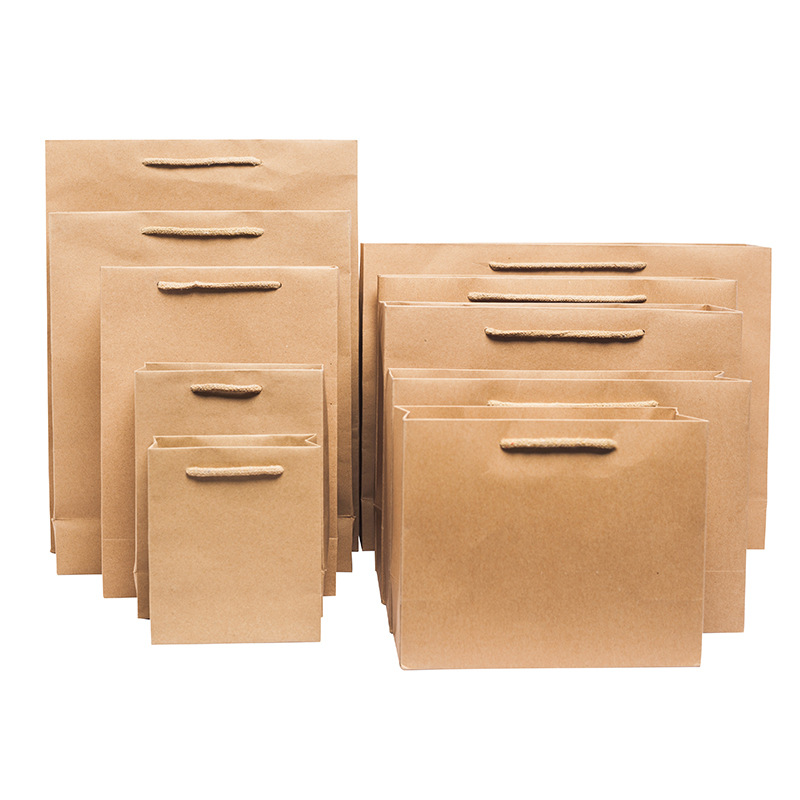 product-Dezheng-Stand up kraft paper bag tote paper envelope bag garbage packaging machine gift pape-1