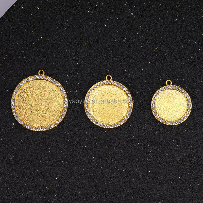 zamak gemstone quantum chinese couple love fashion pendant tray charm for souvenir