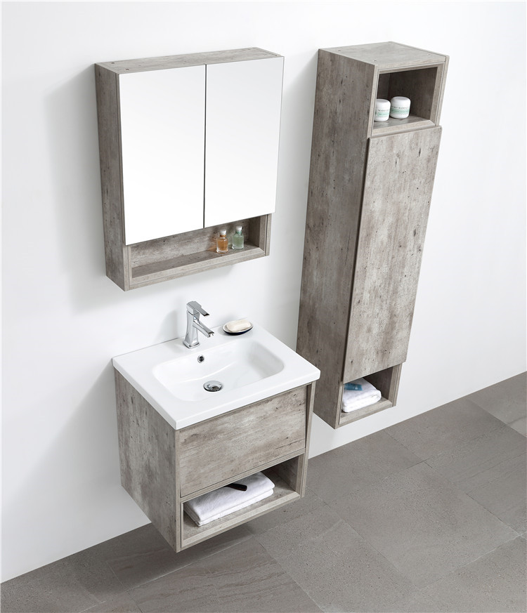 Custom Design Space Saving Luxury Gloss18 Inch Bathroom Bath Mirroir Cabinet Toilet Sink Combo