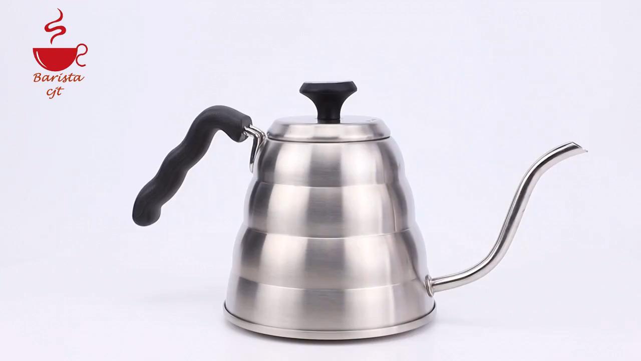 2020 새로운 스테인리스 드립 커피 주전자 커피 차 주전자 창조적 온도계