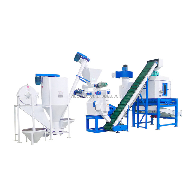Animal Food Production Line Rabbit Feed Processing Machine/Poultry Feed Making Machine in Nigeria/Small Poultry Making Feed Line