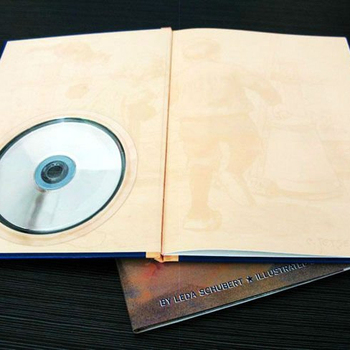 printing factory hardcover book printing with DVD
