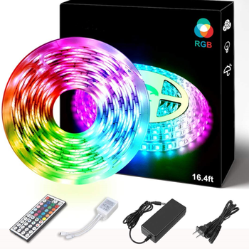 LED Strip Lights, RGB 5050 LED Tape Lights, Color Changing with Remote for Home Lighting