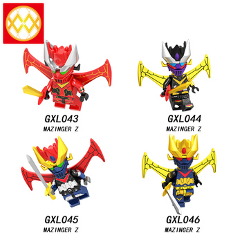 GXL043-046 Anime Mazinger Z Mazinkaiser Bricks Robocop Hell Boy Kamen Rider Cartoon Game Beast King Voltron Building Blocks Toys