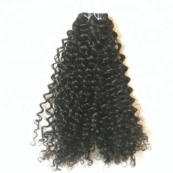 fashion Big selling afro kinky curly hair weft 100% raw human hair