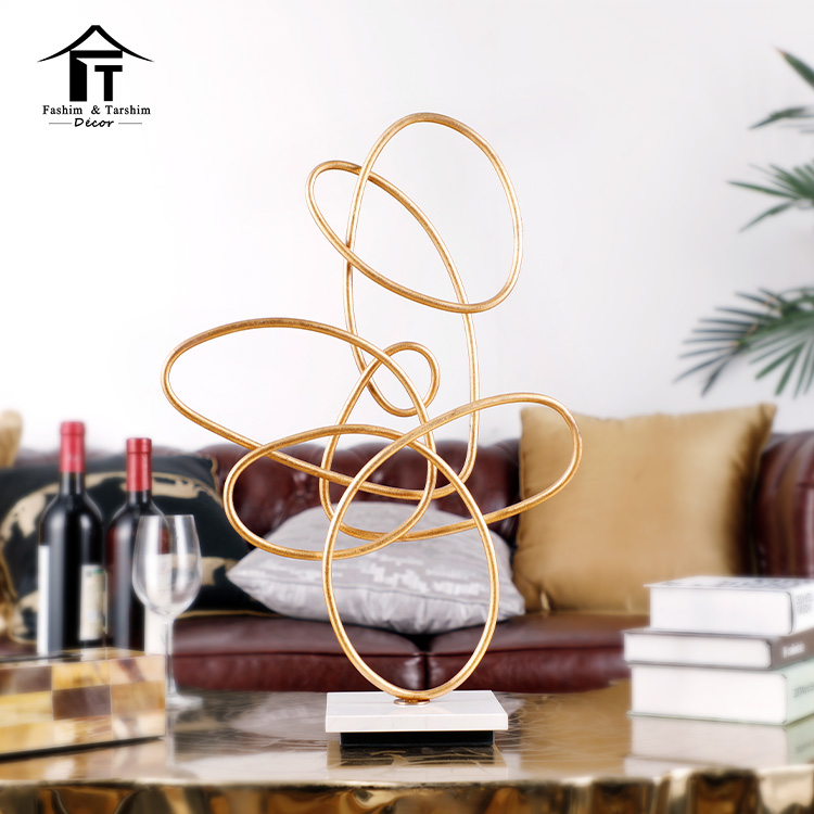 New european style 3d metal abstract sculpture