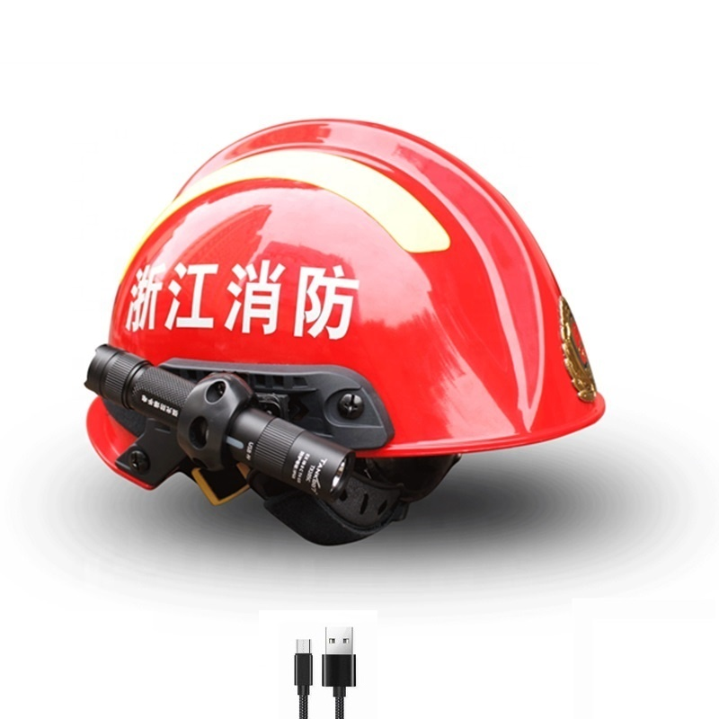 Tank007 TX105 New arrival Micro size Explosion-proof Helmet USB rechargeable fire proof torch headlight durable working light