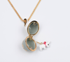 Stylish and simple inlaid zircon necklace can open the Easter egg necklace faberge egg two-color pendant necklace