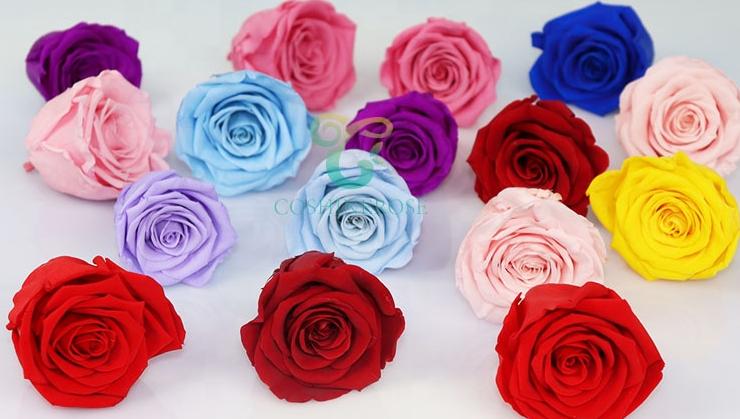 Coshinerose Groothandel Natuurlijke Langdurige Bloem Doos 24K Gouden Rozen Boeket Vergulde Rose Head Bruiloft Decoratie Materialen