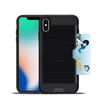 Case For Apple Iphone X Phone Case Rugged Hybrid Silicone Hard Cover for iphone 7 8 Card Slot